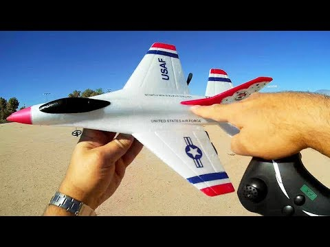 FX-823 Stabilized Two Channel RC Thunderbirds F-16 Fighter Jet Flight Test Review