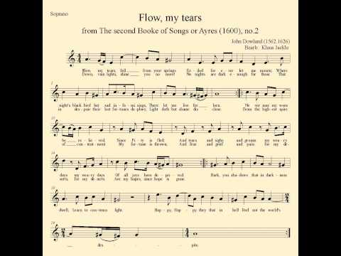 Flow my tears Accompaniment for Soprano with score