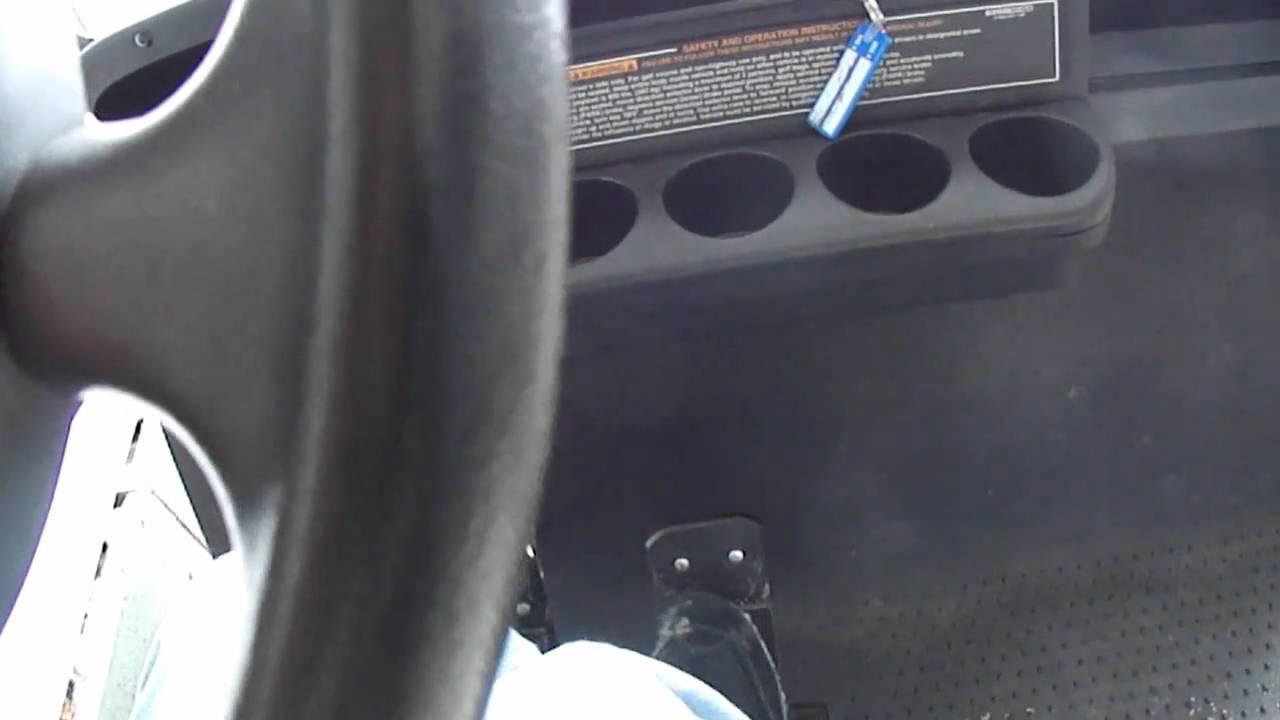 2003 EZ-GO golf cart start up - YouTube on