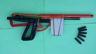 Cara membuat pistol kertas yang tunas peluru | 7 peluru