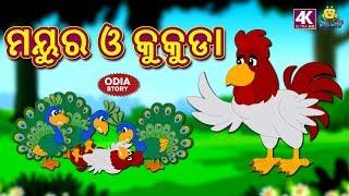 ମୟୁର ଓ କୁକୁଡା - Peacock and The Cock   Odia Story for Children   Fairy Tales in Odia   Koo Koo TV