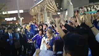 東京ドームのパブリックビューイングに丸山桂里奈さん参上です.