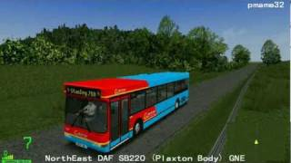 mm2  遊車河 (317) Go North East DAF SB220 (Plaxton Body) GNE  (Stanley 718) in Factory City