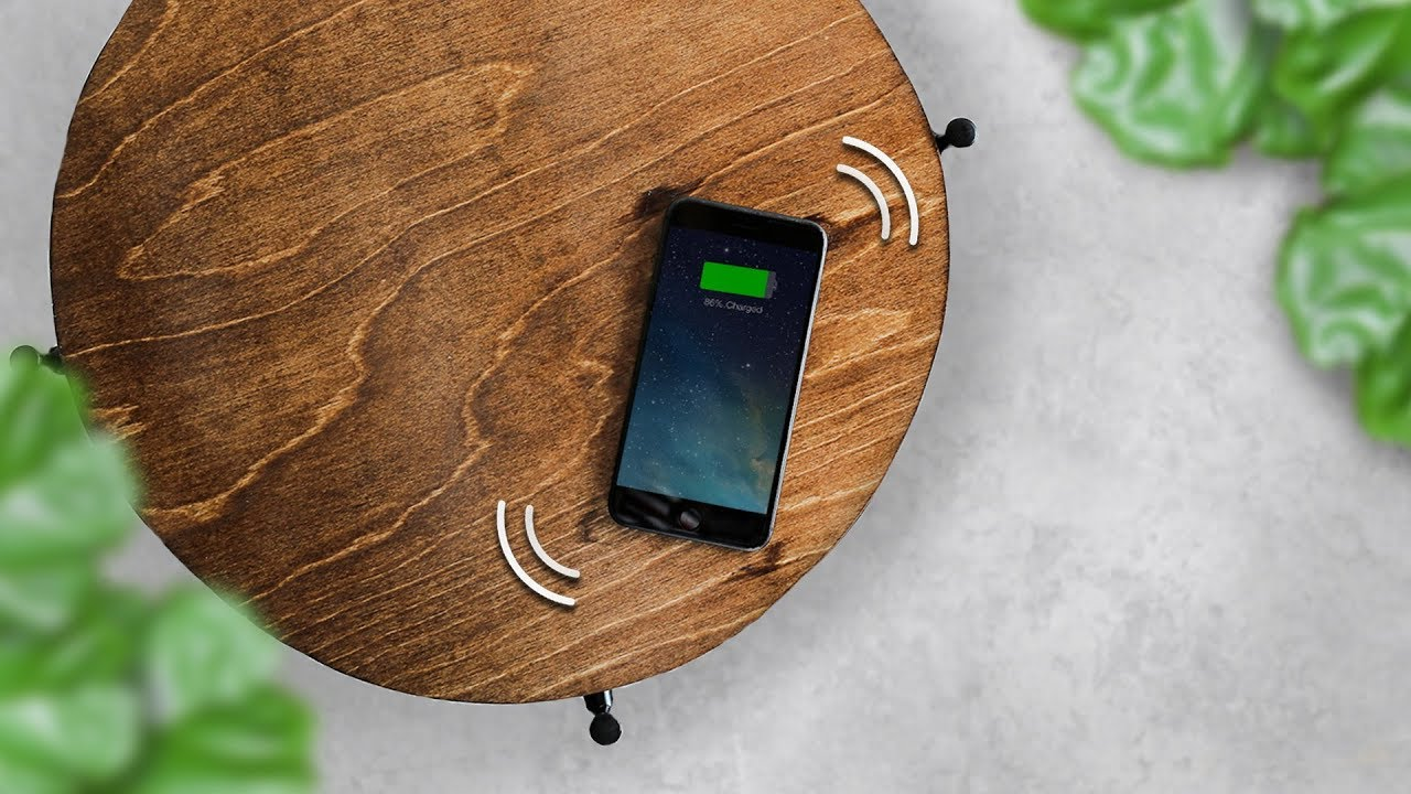 How To Build A Wireless Phone Charging Table Ikea Hack Youtube