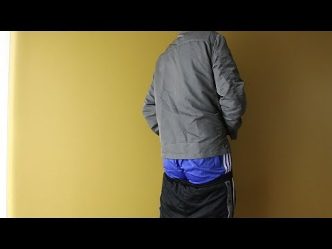 Showing my blue Adidas nylon short and Alpha Industries jacket thumbnail