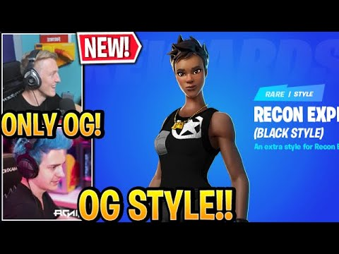 "Streamers React to *NEW* ""BLACK RECON EXPERT"" *OG* STYLE Skin in Fortnite Update"
