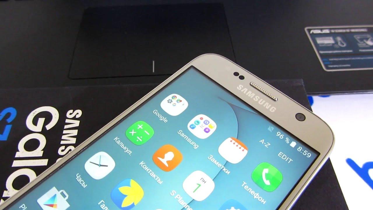 Самая Лучшая и точная копия Samsung Galaxy S7 edge - видео обзор .