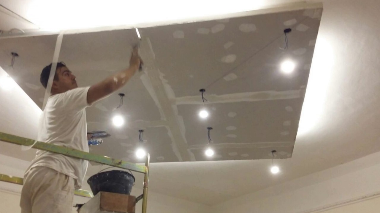 Super controsoffitto in cartongesso con faretti e veletta - YouTube FD81