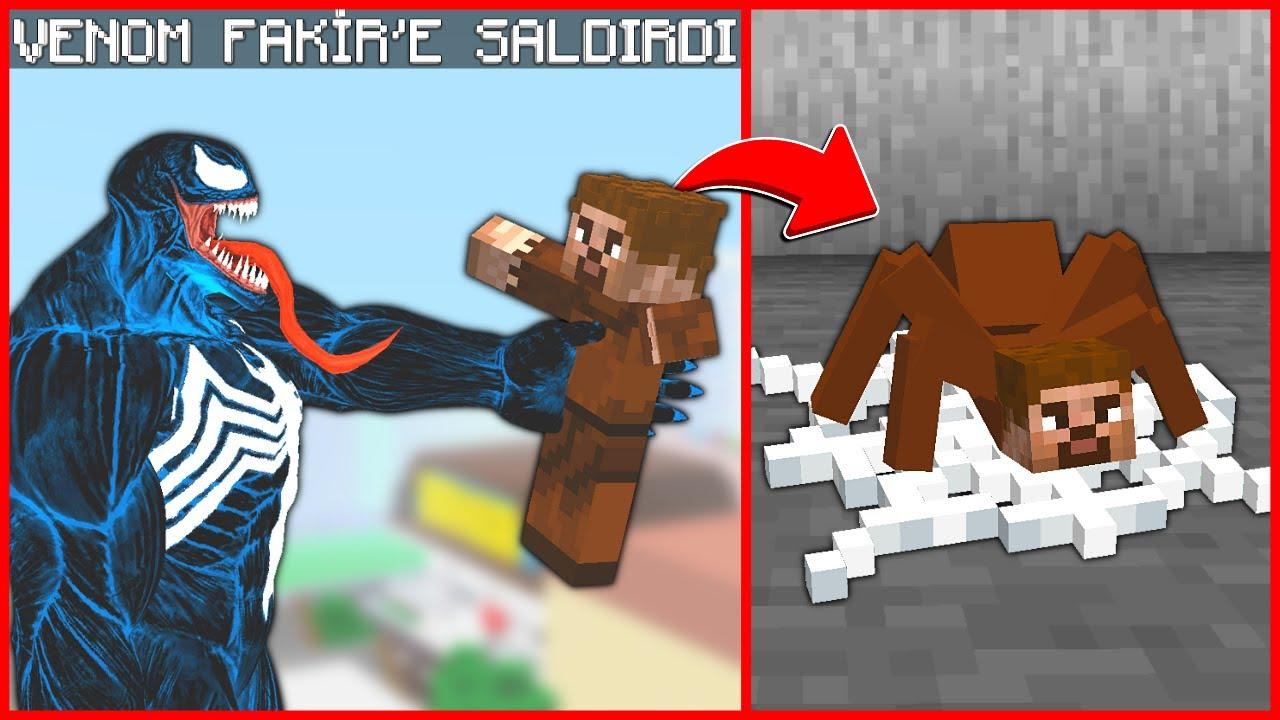 VENOM FAKİR'E SALDIRDI, FAKİR ÖRÜMCEK OLDU! 😱 - Minecraft