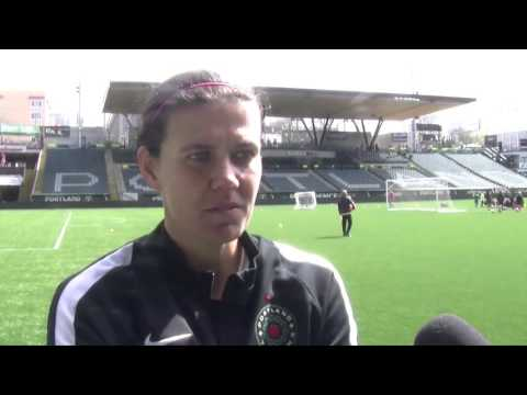 Christine Sinclair on returning to Thorns practice