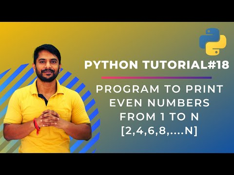 Program to Print only Even Numbers from 1 to N - Python Tutorial #18 thumbnail