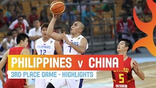 Philippines v China - Highlights 3rd Place Game - 2014 FIBA Asia Cup