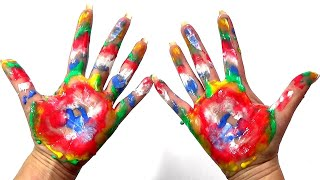 学习儿童颜色身体彩绘手指家庭歌曲童谣学习儿童幼儿宝宝