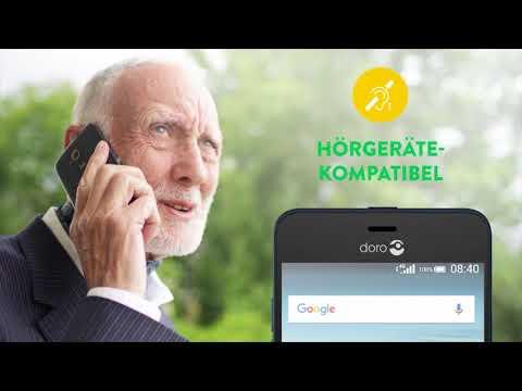 Smartphone - simpel und trotzdem SMART - Doro 8035 - einfache Bedienung, Senioren-Smartphone