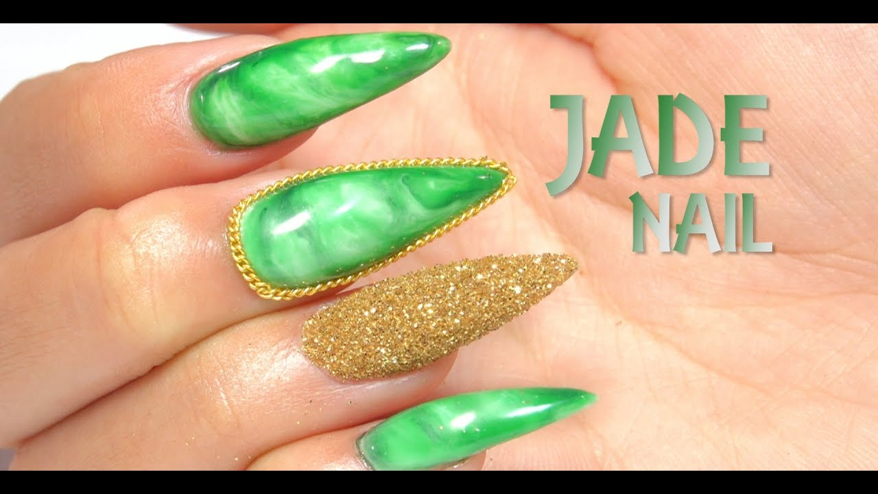 Jade Stone Nail Art - YouTube