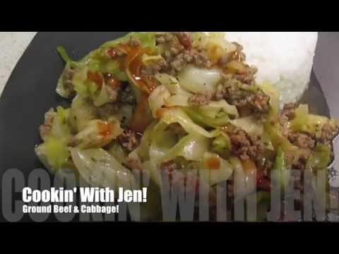 How To: Ground Beef And Cabbage - 20 Minute Meal -