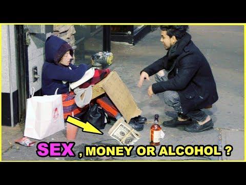 SEX, ALCOHOL, Or MONEY Options HOMELESS Experiment (Social Experiment) thumbnail