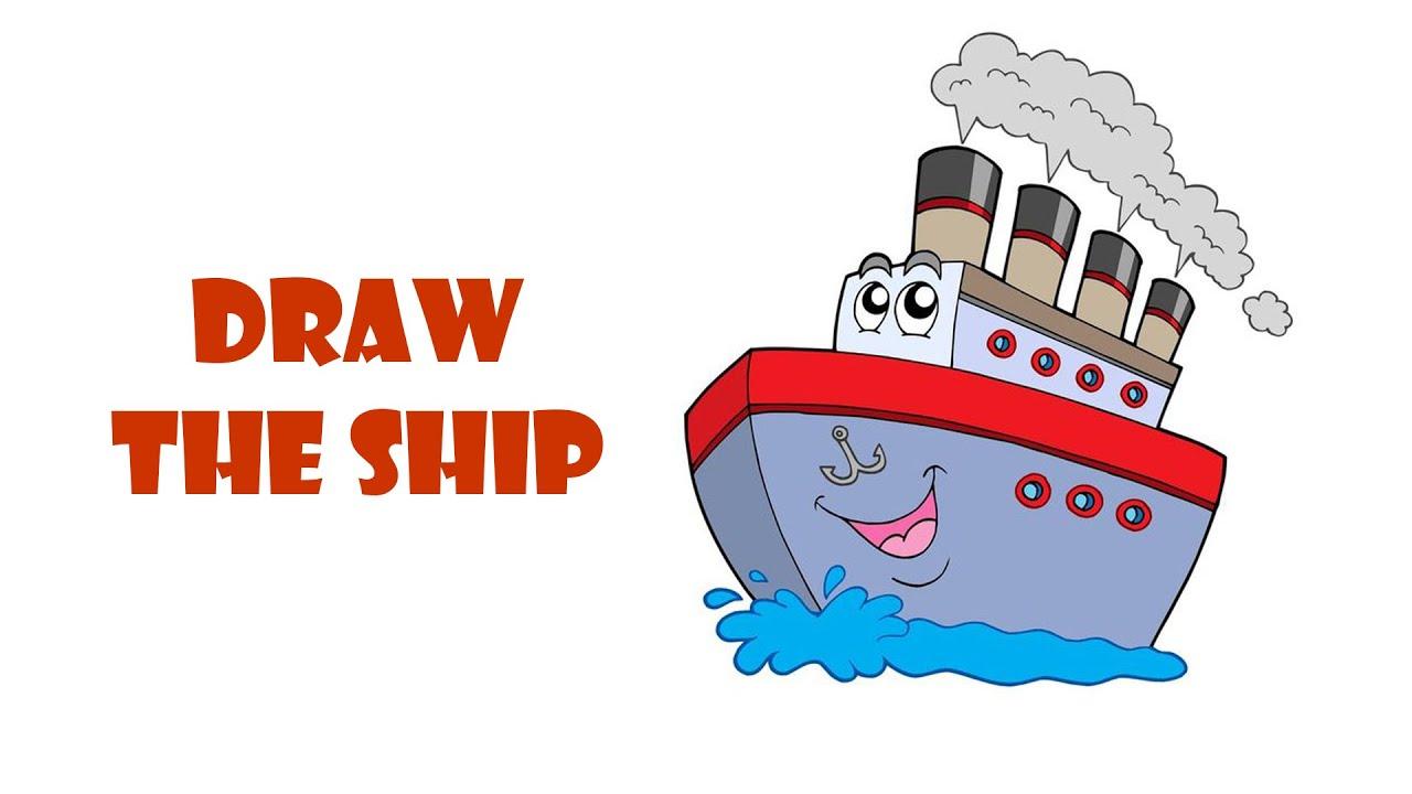 vẽ chiếc tàu |hướng dẫn vẽ chiếc tàu |vẽ và tô màu chiếc tàu |draw a ship