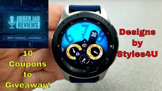 Samsung Galaxy Watch/Gear Watch Face by Styles4U - 10 Coupons to Giveaway - Jibber Jab Reviews!