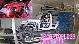 LAVA WAX JEEP WASH + NO DOORS/TOP = BAD IDEA