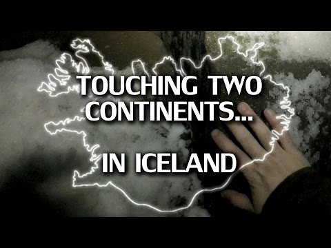 Touching two continents in Iceland