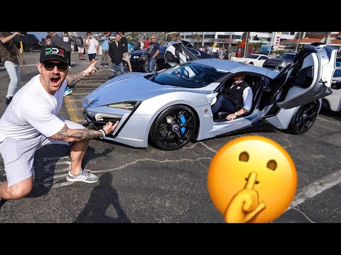 SNEAKING INTO A SUPERCAR RALLY! FEAT. LYKAN HYPERSPORT & FENYR