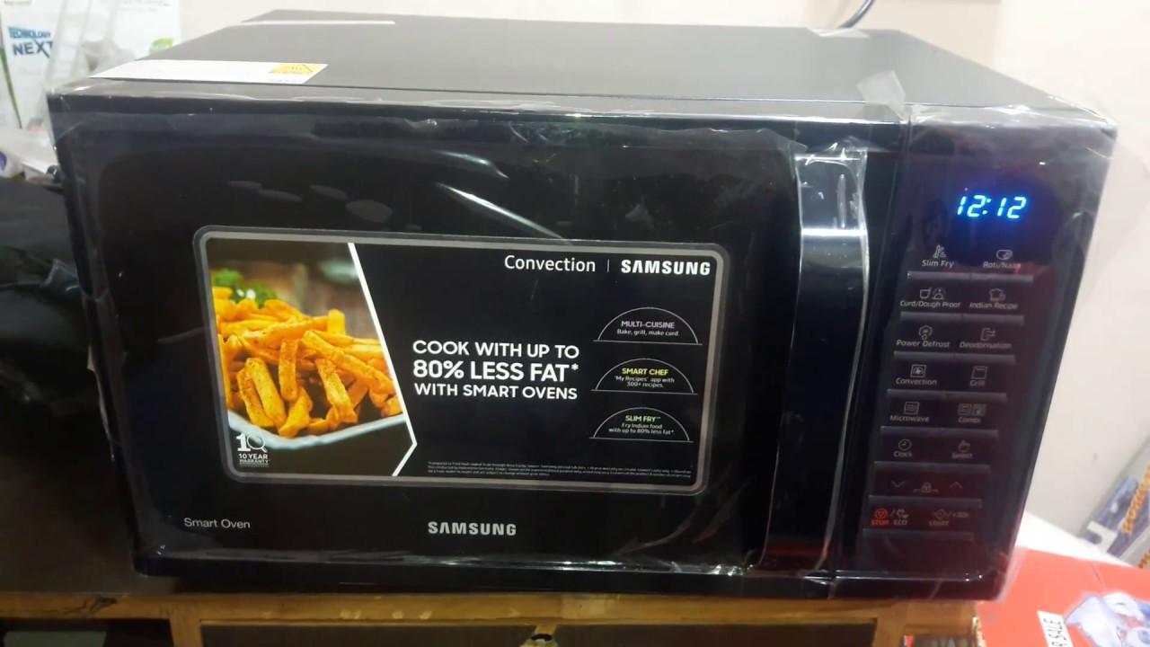 how to use samsung 28 l convection microwave oven model mc28h5025vk tl black