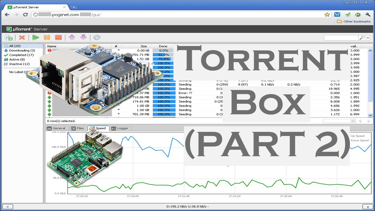 TORRENT BOX PART 2: Hosting torrent client on Orange or Raspberry pi