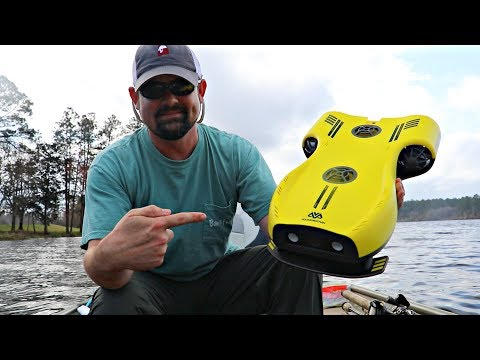 UNDERWATER DRONE Finds GIANT Bass!!