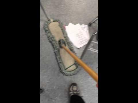 Sweeping Gables floor at Guntown Middle School