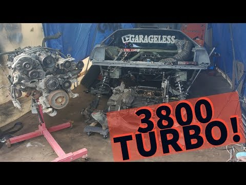 TEARING DOWN FIERO FOR 3800 TURBO BUILD! CONQUEST GETS TRANS THICK PAN!