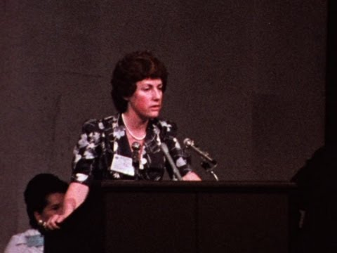 Elizabeth Reid at the 1975 World Conference of the International Women's Year
