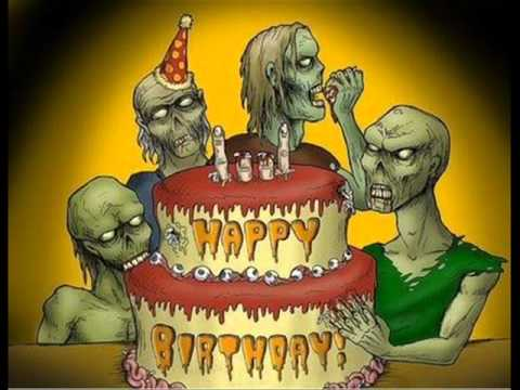 happy birthday death metal style