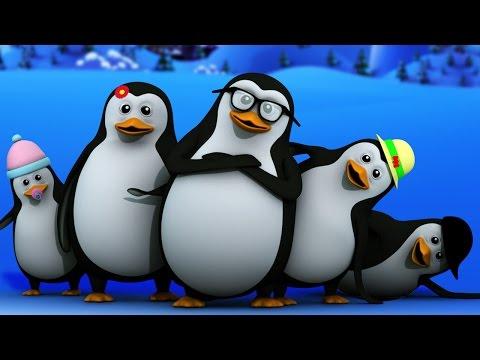 five little penguins | nursery rhymes | baby songs | kids rhymes | kids tv cartoon videos for babies