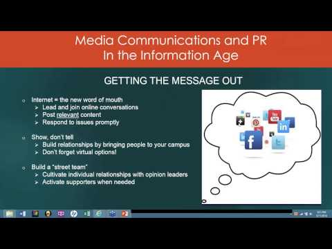 Media Communications and PR in the Information Age - 3/11/2014