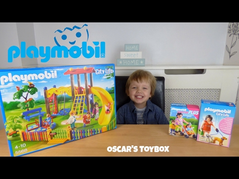 Playmobil City Life Preschool Children's Playground Unboxing and Playtime - Oscar's Toybox