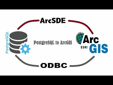 Connection PostgreSQL to ArcGIS with ArcSDE and ODBC