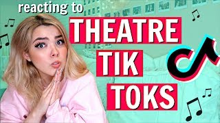 Reacting to THEATRE TIK TOKS | *broadway memes but I do some of the music*