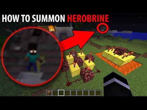 How I Summoned Herobrine In Minecraft (Minecraft Tutorial)