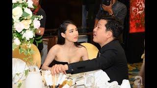 Nhã Phương khiến khách dự đám cưới chóng mặt , khi cùng Trường Giang dự đám cưới