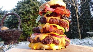 Peanut Butter Bacon Cheeseburger -KuchniaKwasiora