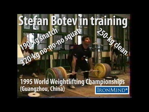 Stefan Botev in training