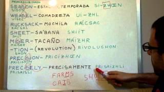 Curso de inglés 96 - Fonética y pronunciación 3 -Video 2 de 2