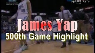 James Yap 500th Game in PBA-San Mig Coffee vs Rain Or Shine Elasto Painters