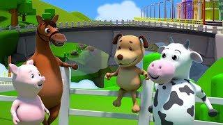 Лондонский мост падает вниз | Мультфильмы для детей | London Bridge Rhymes | Kids Baby Club Russia