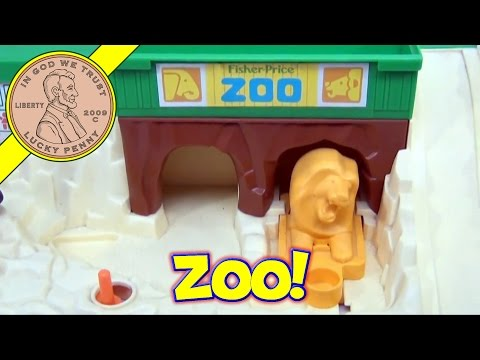 Vintage Toys Fisher Price Little People Zoo Play Set #916 From 1984