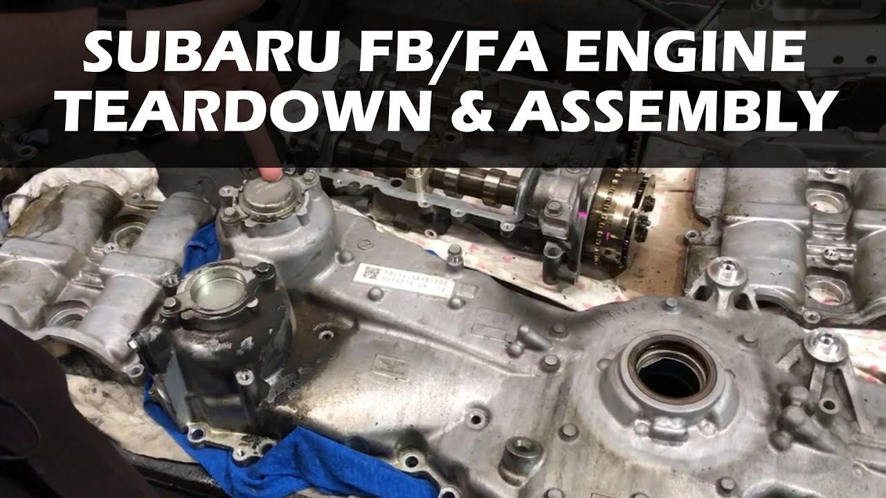 Subaru FA/FB Engine Teardown and Assembly