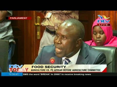 Agriculture CS and PS appear before parliament's agriculture committee