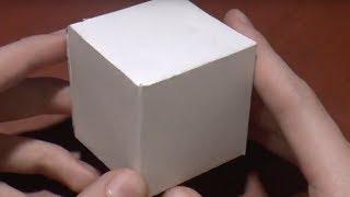 як зробити кубик з картону схема