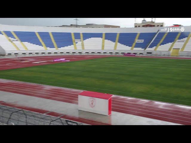 رغم تهاطل الأمطار.. أرضية ملعب العربي الزاولي صامدة